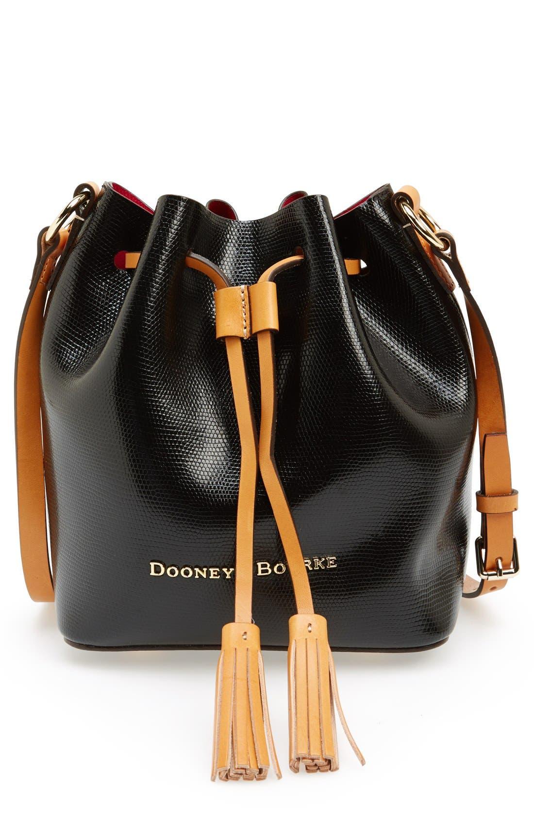 Main Image - Dooney & Bourke 'Serena' Embossed Leather Crossbody Bag