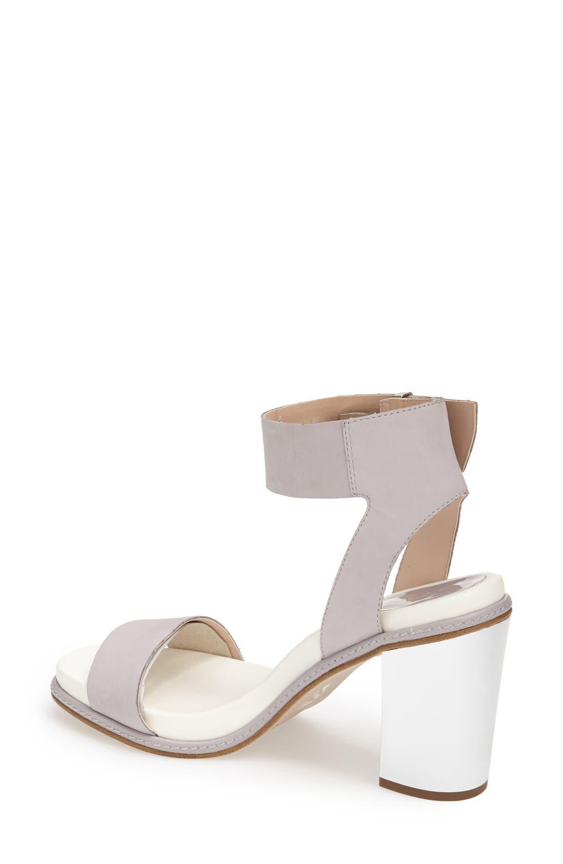 Alternate Image 2  - Topshop 'Reflect' Metallic Heel Leather Sandal (Women)