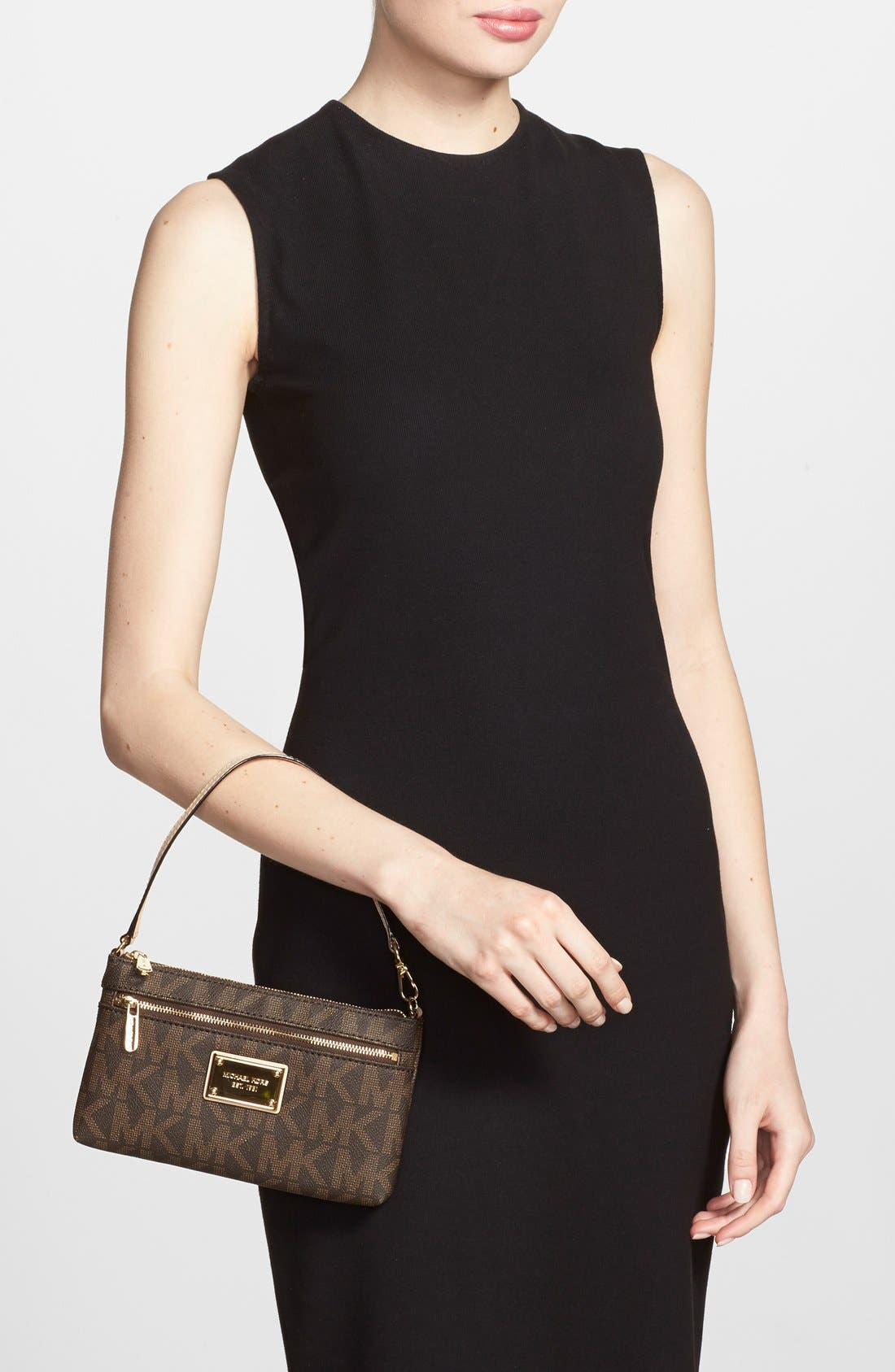 Alternate Image 2  - MICHAEL Michael Kors 'Signature – Large' Zip Wristlet