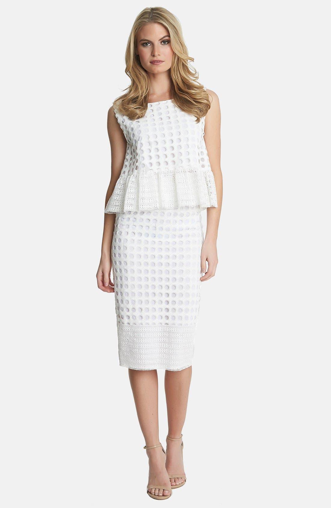 Alternate Image 3  - 1.STATE Geo Lace Midi Skirt