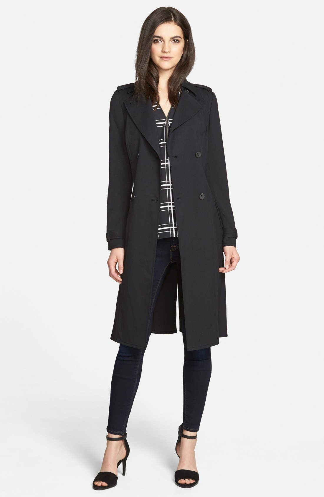 Main Image - Trouvé Belted Trench Coat