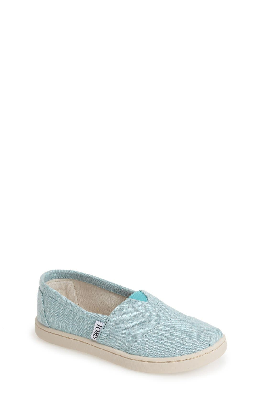 Main Image - TOMS 'Classic Youth - Chambray' Slip-On (Toddler, Little Kid & Big Kid)