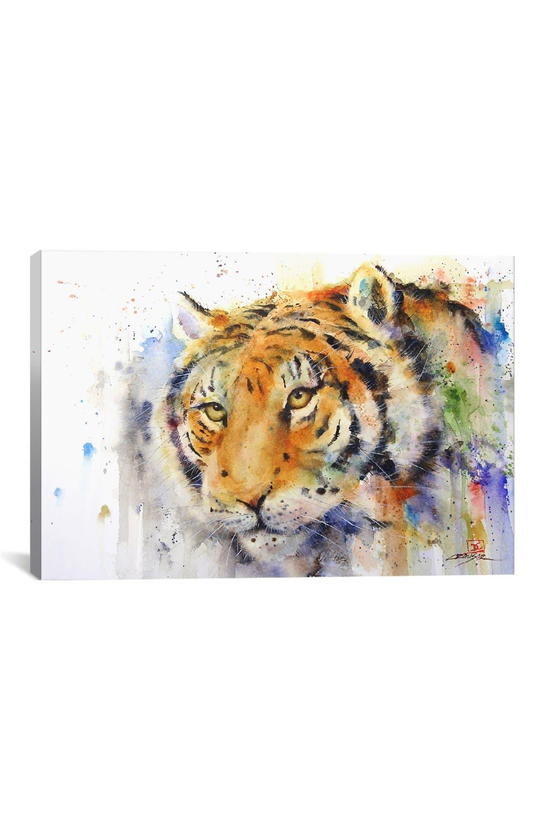Alternate Image 1 Selected - iCanvas 'Tiger - Dean Crouser' Giclée Print Canvas Art