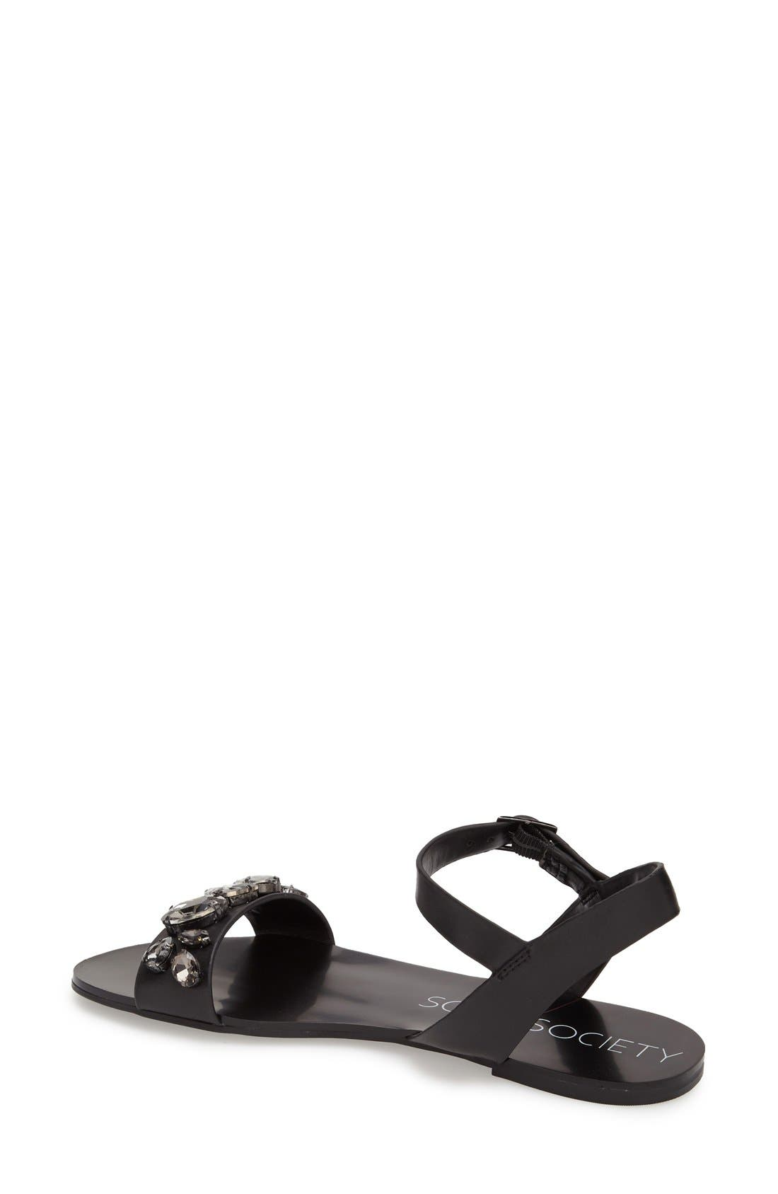 Alternate Image 2  - Sole Society 'Gemma' Crystal Ankle Strap Sandal (Women)