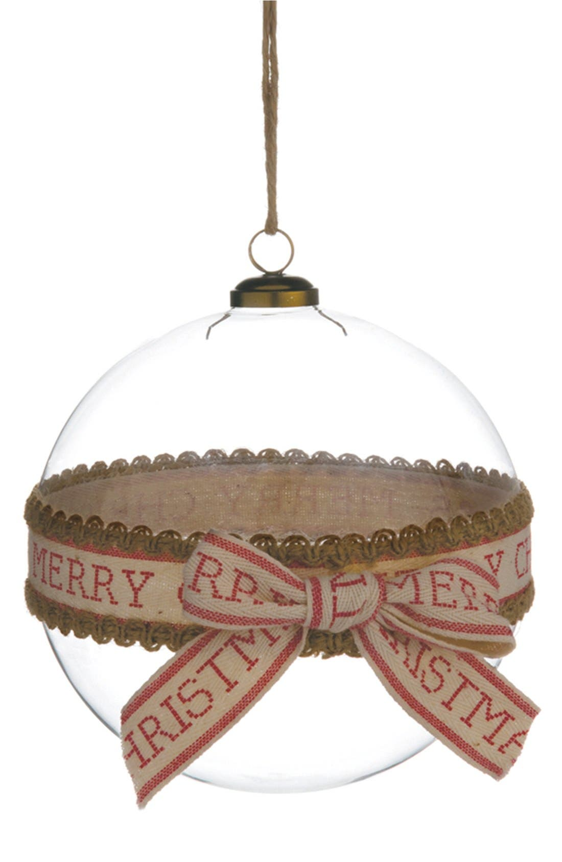 Main Image - ALLSTATE 'Merry Christmas' Glass Ball Ornament