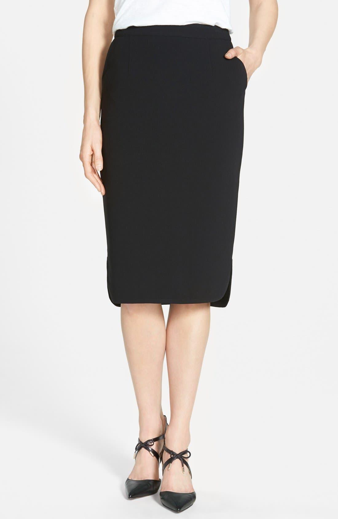 Alternate Image 1 Selected - Halogen® Side Vent Midi Pencil Skirt