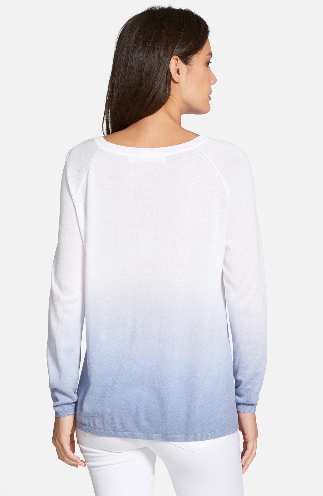 Alternate Image 2  - Nordstrom Collection 'Lula' Dip Dye Cotton Blend Sweater