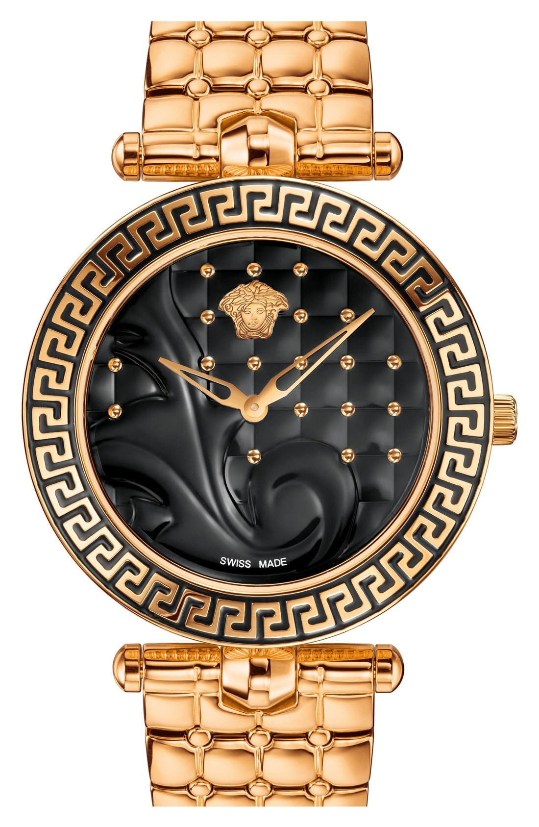 Main Image - Versace 'Vanitas' Quilted Bracelet Watch, 40mm