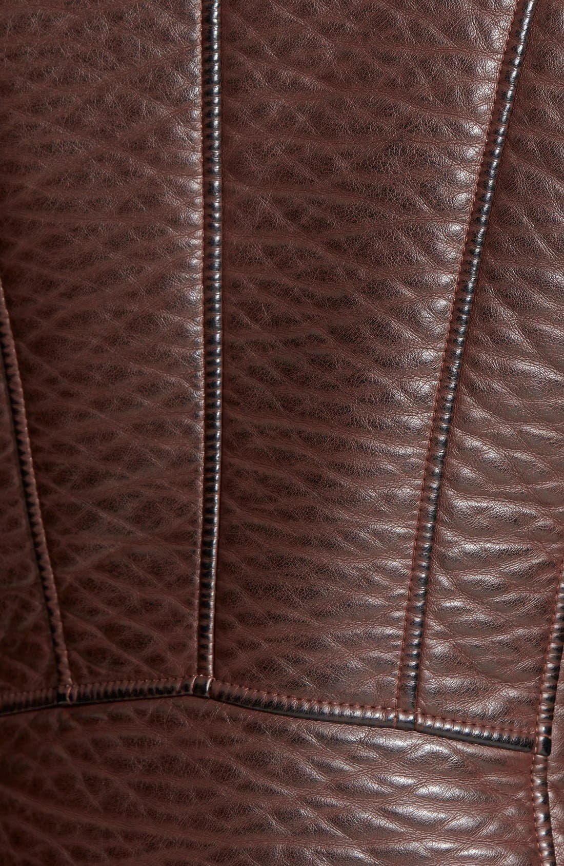 Alternate Image 3  - GUESS Textured Faux Leather Moto Jacket