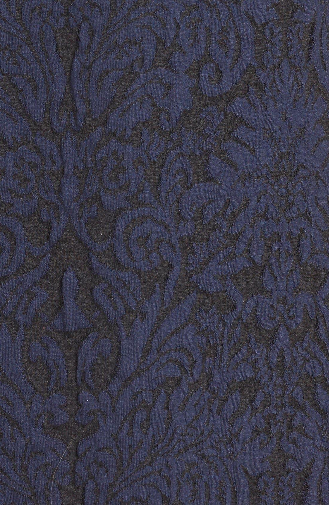 Alternate Image 4  - Vince Camuto Cotton Blend Jacquard A-Line Dress