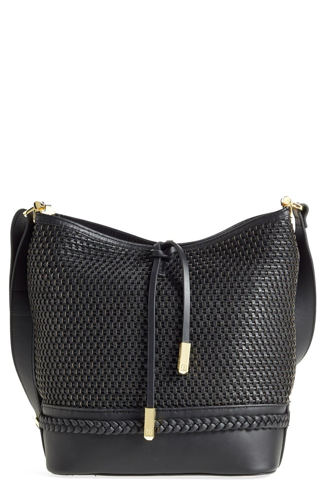 Main Image - Ivanka Trump 'Briarcliff' Woven Leather Bucket Bag