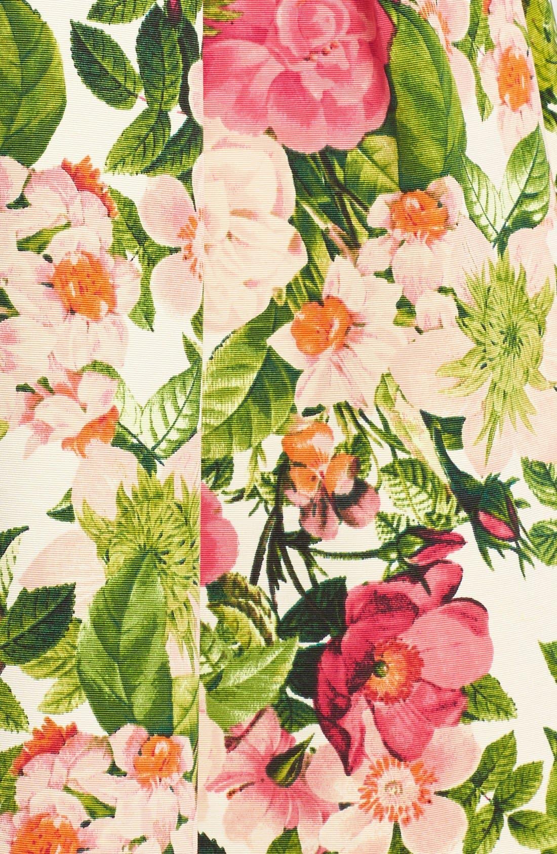 Alternate Image 4  - Eliza J Floral Print Faille Midi Skirt