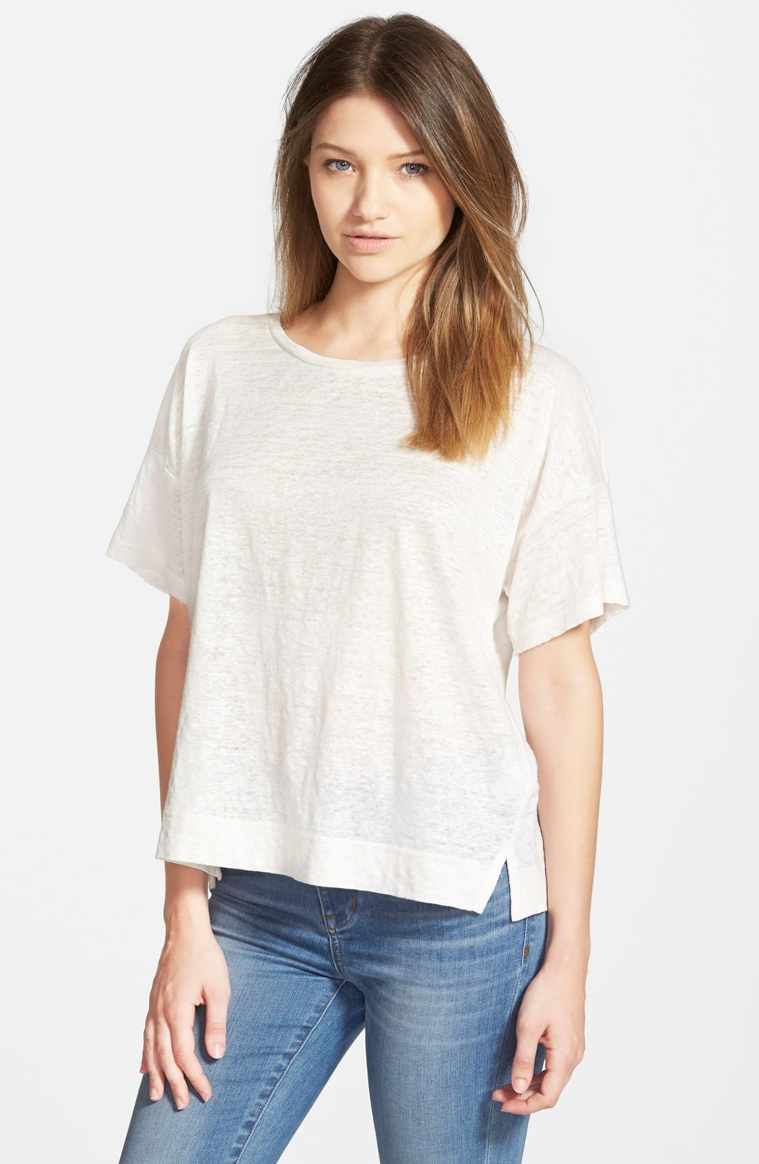 Alternate Image 1 Selected - Madewell 'Ella' Slouchy Linen Tee