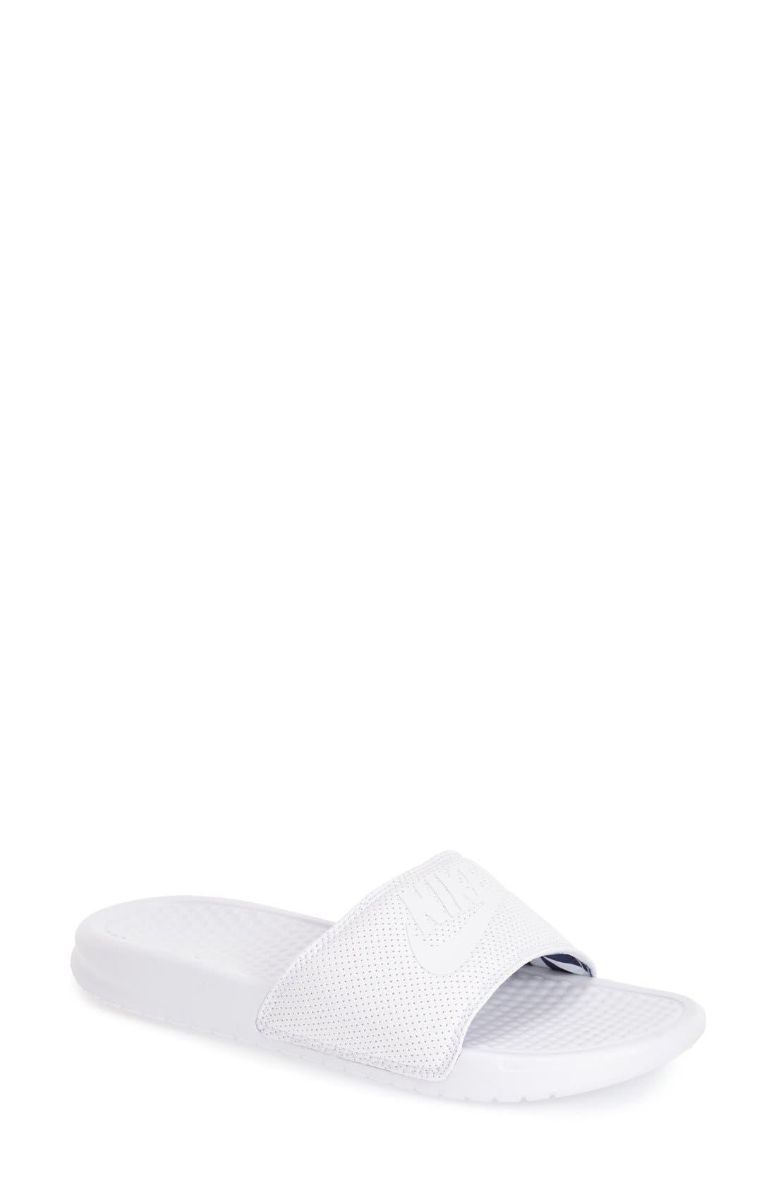 Alternate Image 1 Selected - Nike 'Benassi - Just Do It' Slide Sandal (Women)