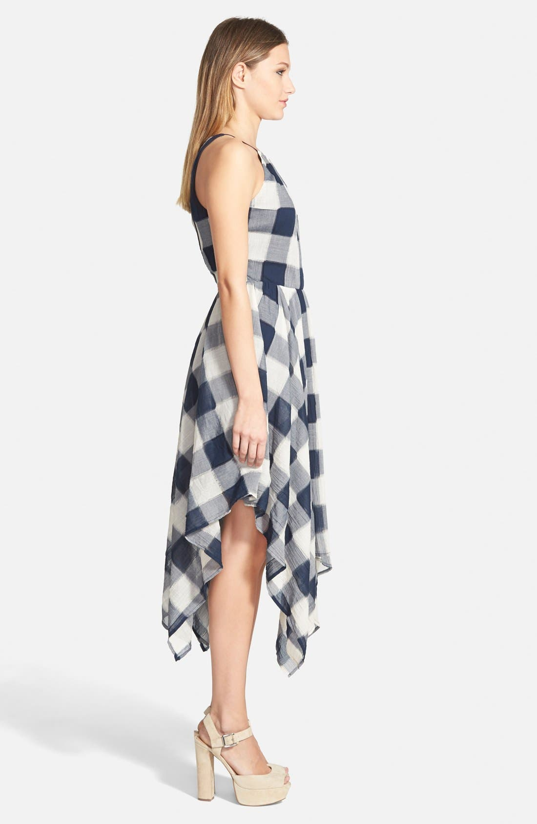 Alternate Image 3  - Storee Handkerchief Hem Halter Dress