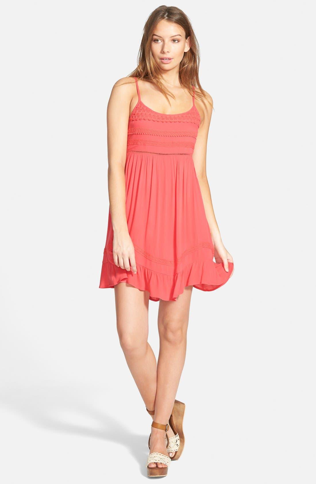 Main Image - Socialite Crochet Babydoll Dress