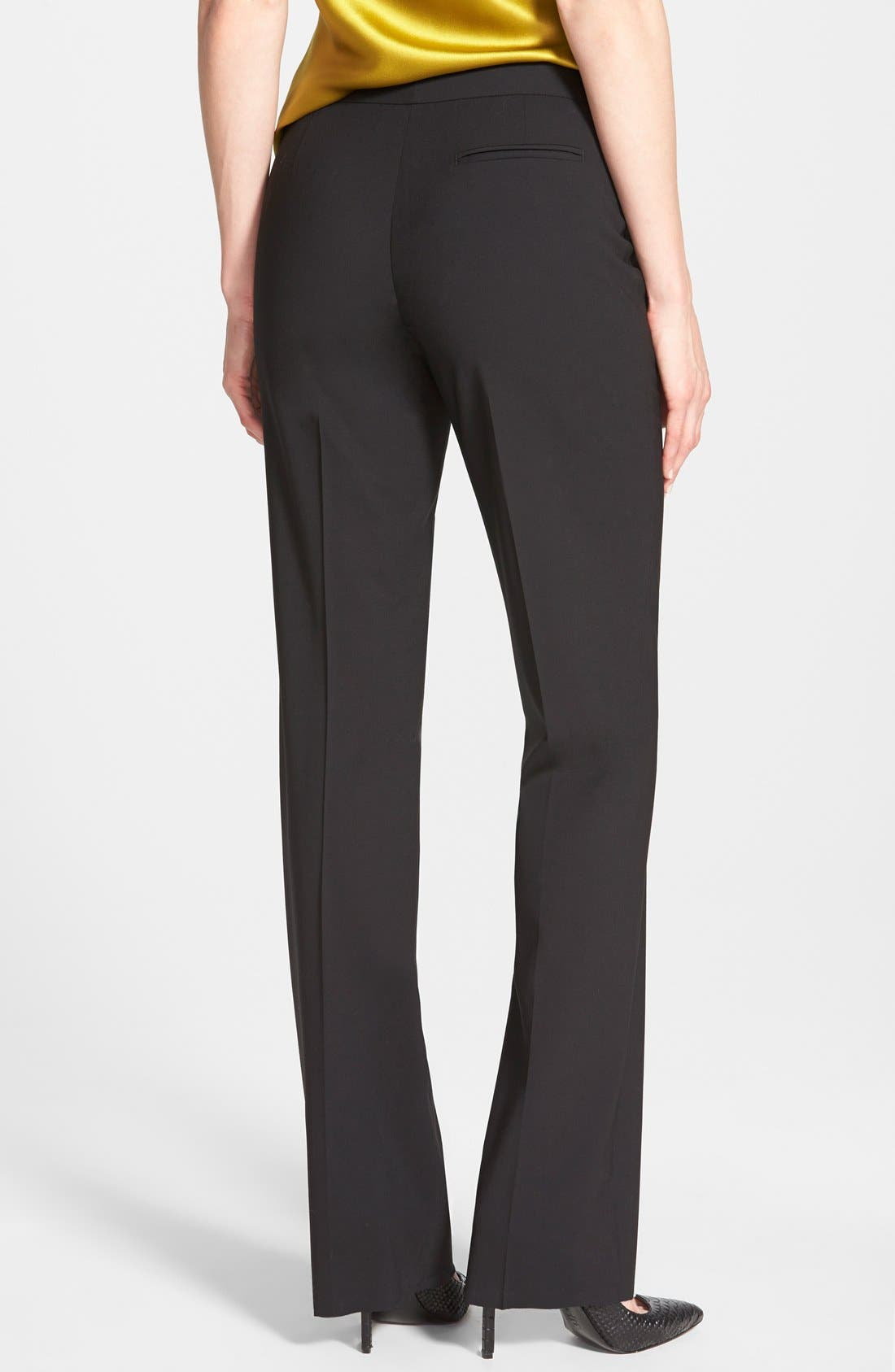 Alternate Image 2  - Lafayette 148 New York 'Menswear' Trousers (Regular & Petite)