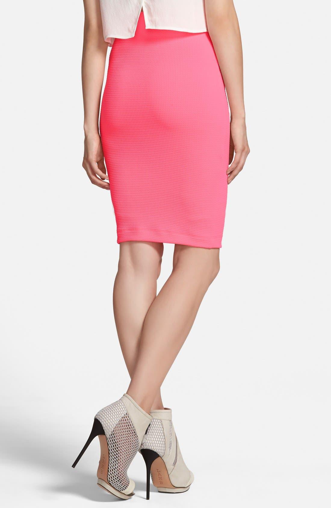 Alternate Image 2  - ASTR Textured Midi Skirt