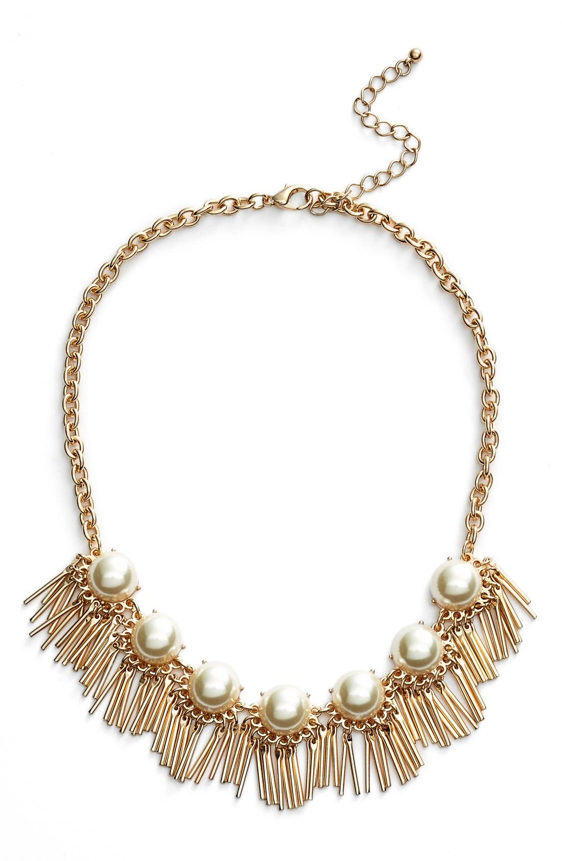 Alternate Image 1 Selected - BP. Faux Pearl Fringe Statement Necklace