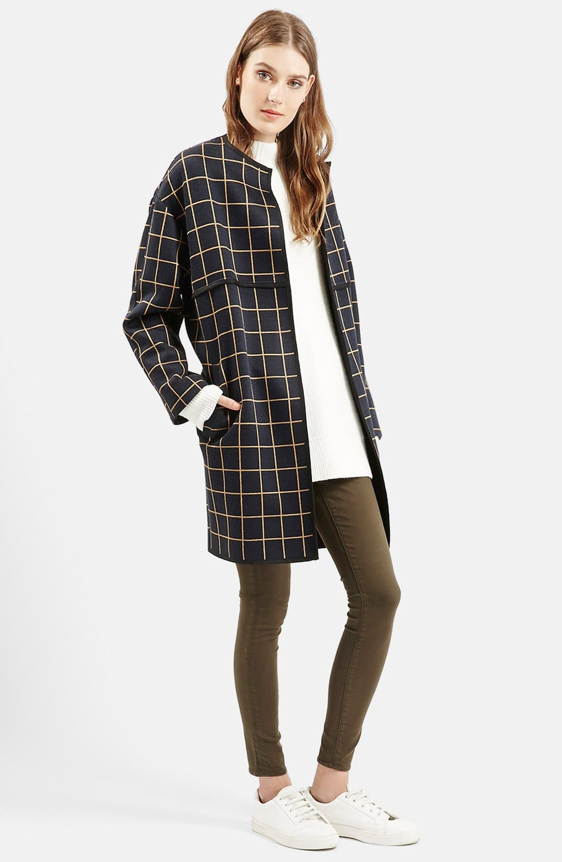 Alternate Image 2  - Topshop Check Topper (Nordstrom Exclusive)