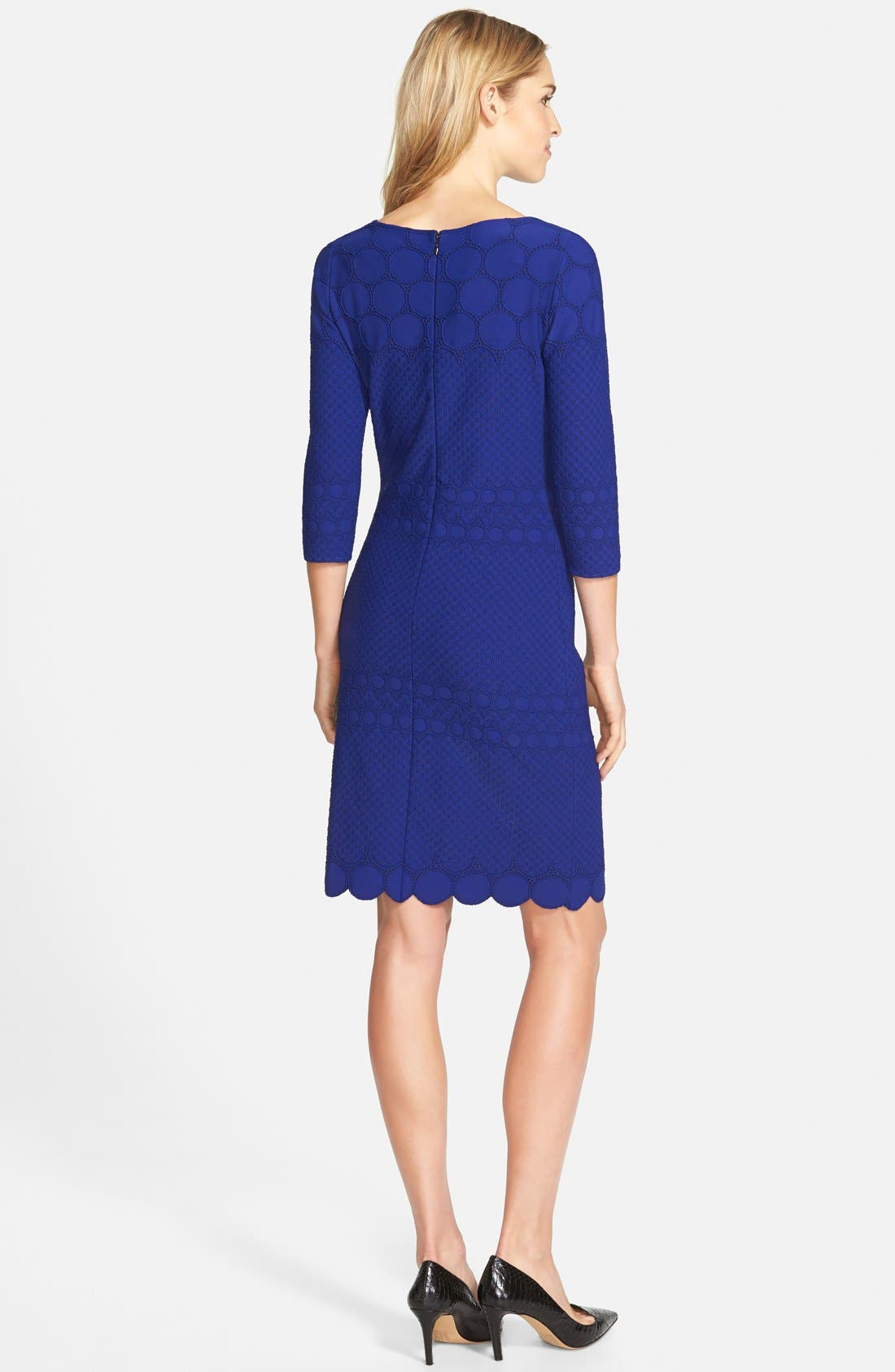 Alternate Image 2  - Julia Jordan Eyelet Sheath Dress (Online Only)