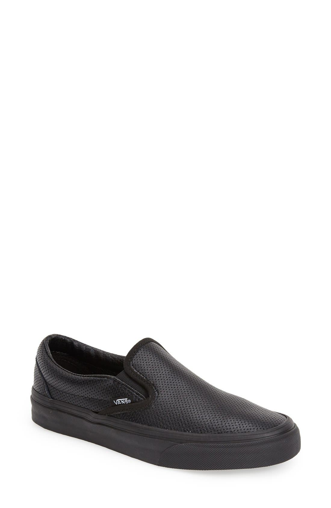 Alternate Image 1 Selected - Vans 'Classic - Perforated' Slip-On Sneaker (Women)