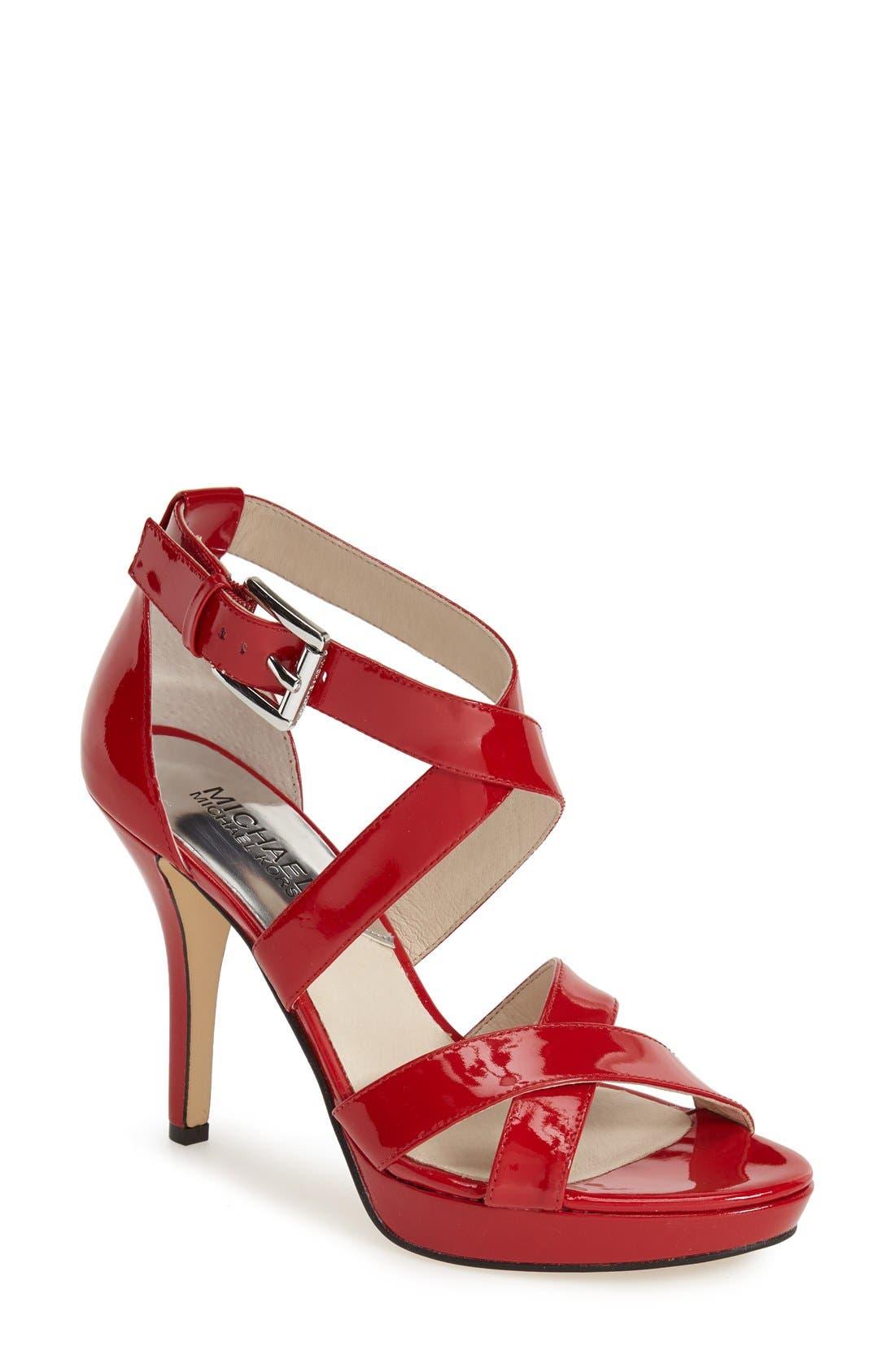 Alternate Image 1 Selected - MICHAEL Michael Kors 'Evie' Platform Sandal (Women)