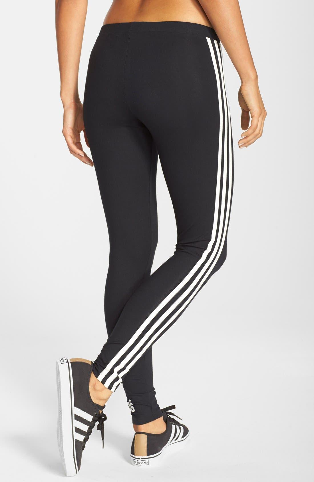 Alternate Image 2  - adidas Originals '3-Stripes' Stretch Cotton Leggings