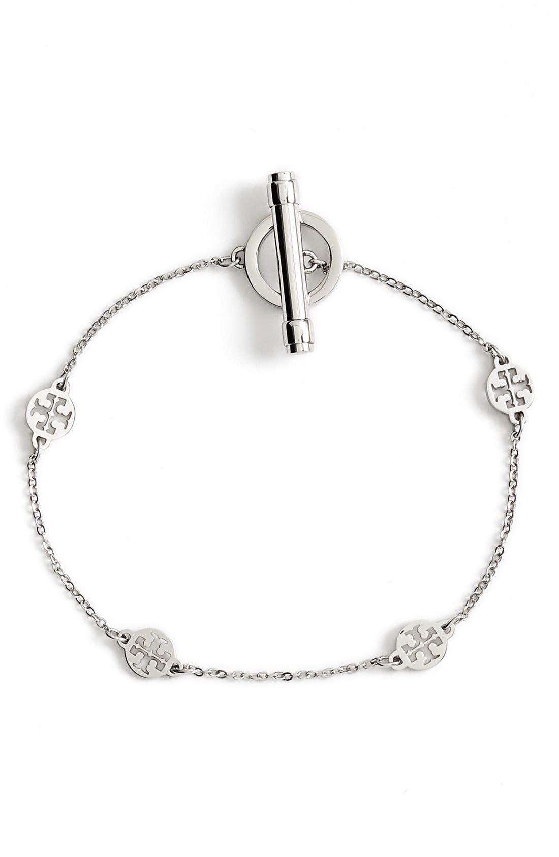 Alternate Image 1 Selected - Tory Burch Logo Station Toggle Bracelet