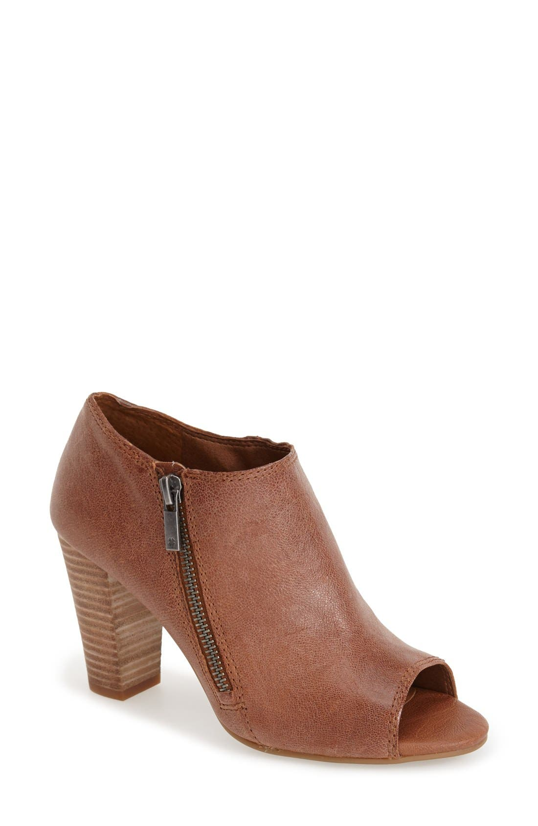 Alternate Image 1 Selected - Lucky Brand 'Pabla' Open Toe Bootie (Women)