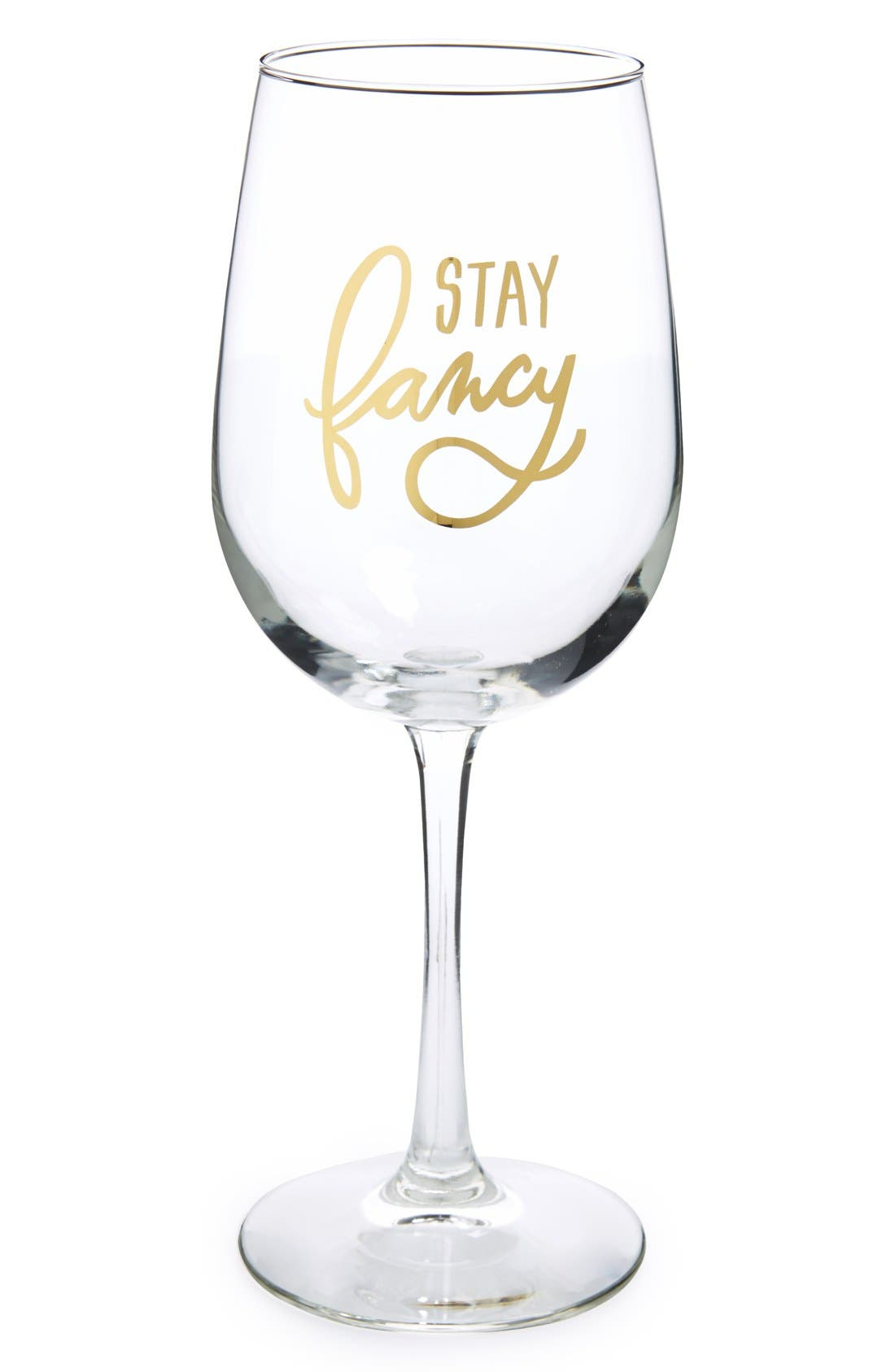 Alternate Image 1 Selected - Easy, Tiger 'Stay Fancy' Wine Glass