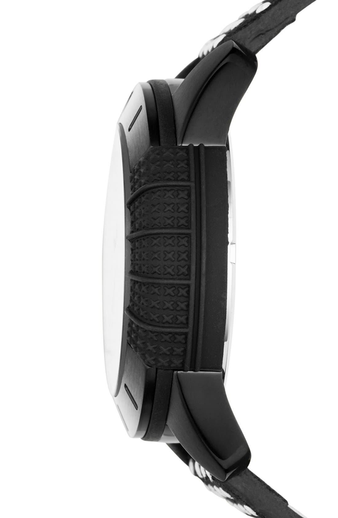 Alternate Image 2  - adidas Originals 'ADH-1969' Leather Strap Watch, 42mm