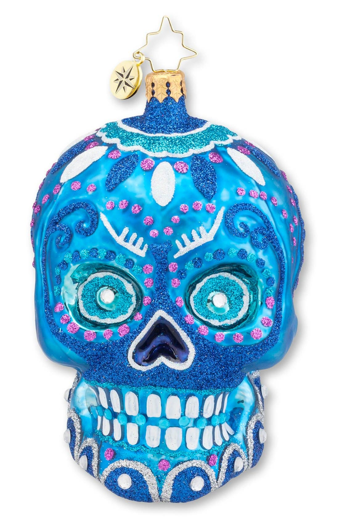Alternate Image 1 Selected - Christopher Radko 'La Calavera' Skull Ornament