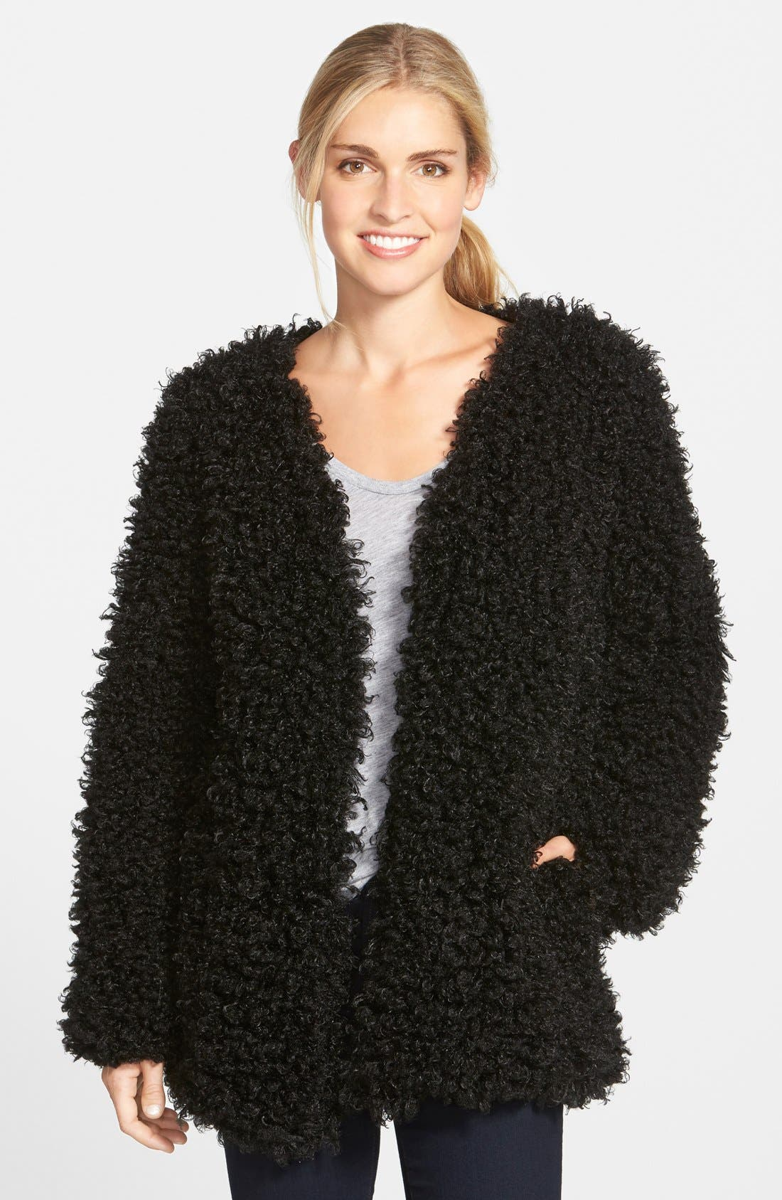 Main Image - Vince Camuto Curly Faux Fur Jacket