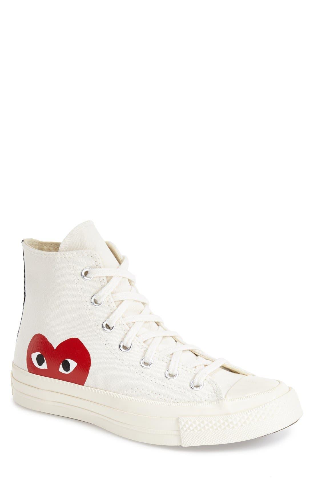 Alternate Image 1 Selected - Comme des Garçons PLAYx Converse Chuck Taylor® - 'Hidden Heart' High TopSneaker (Men)