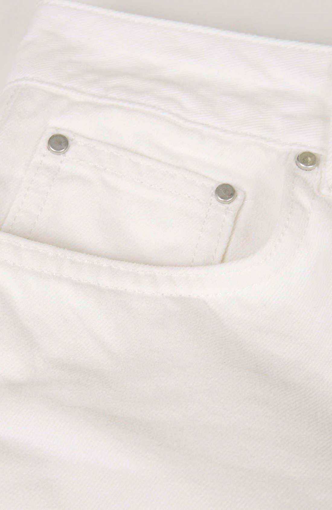 Alternate Image 5  - Topshop Boutique Slim Leg Jeans (Cream)