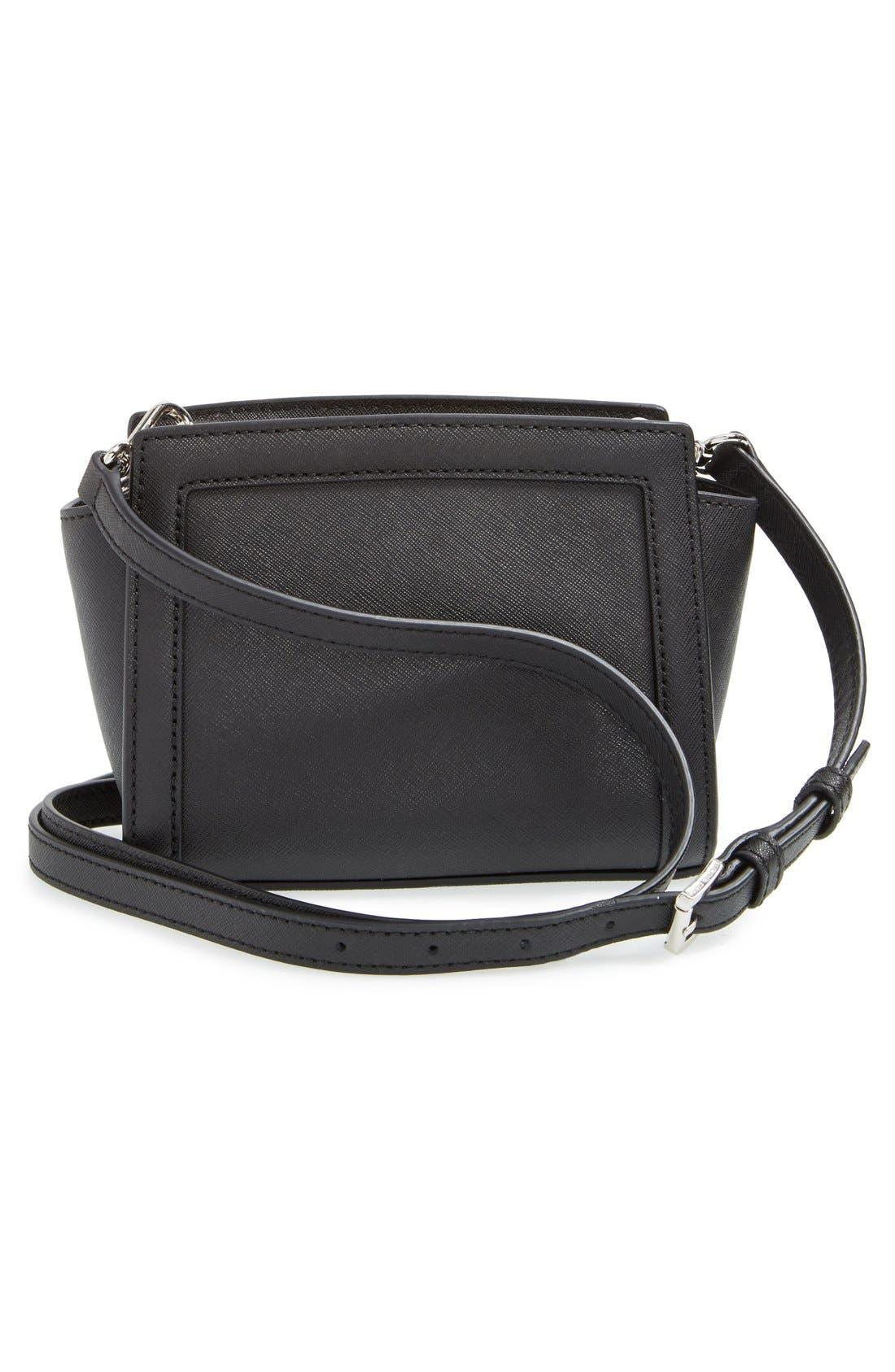 Alternate Image 3  - MICHAEL Michael Kors 'Mini Selma' Studded Saffiano Leather Crossbody Bag