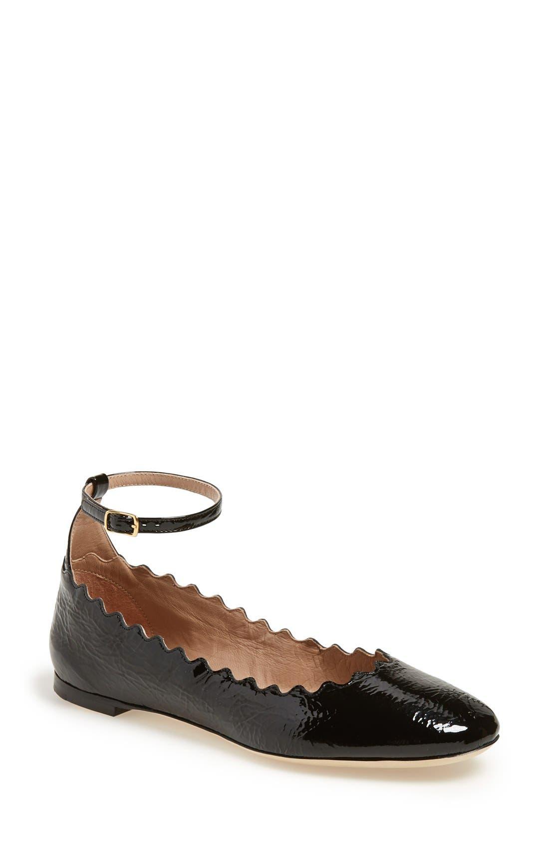 Alternate Image 1 Selected - Chloé 'Laurent' Ankle Strap Flat (Women)
