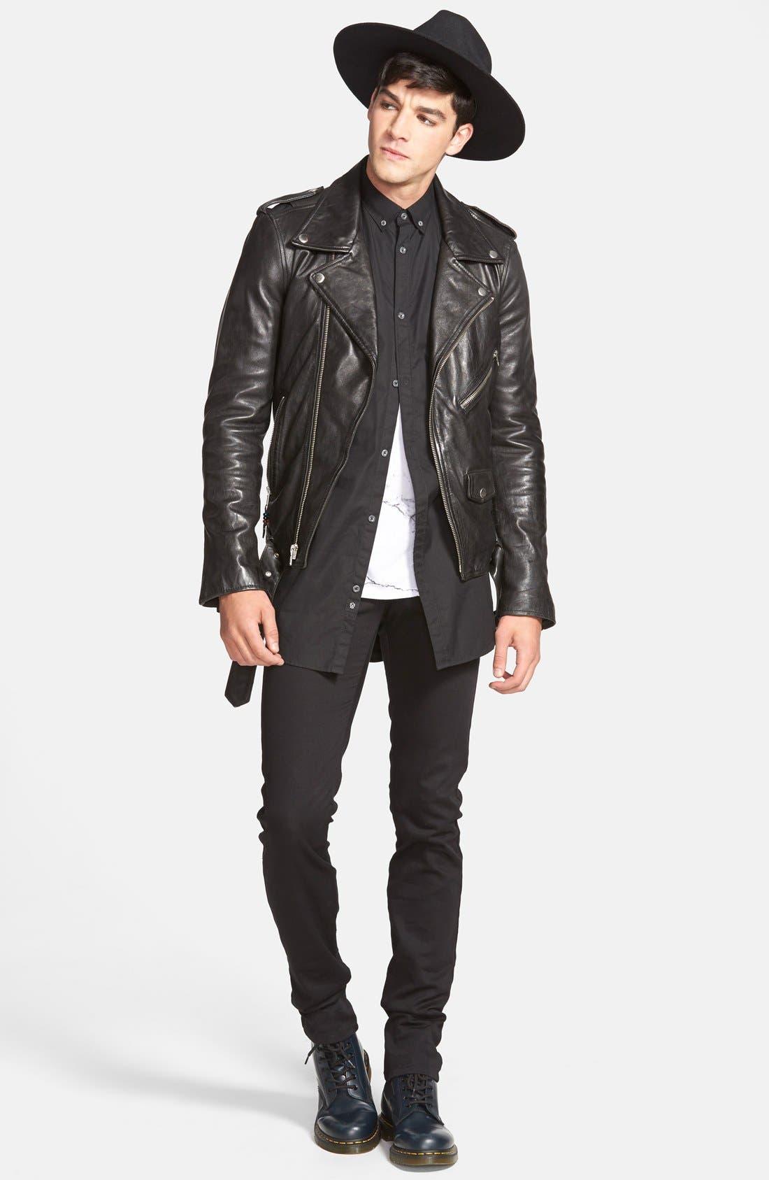 Alternate Image 7  - BLK DNM 'Leather Jacket 5' Leather Moto Jacket