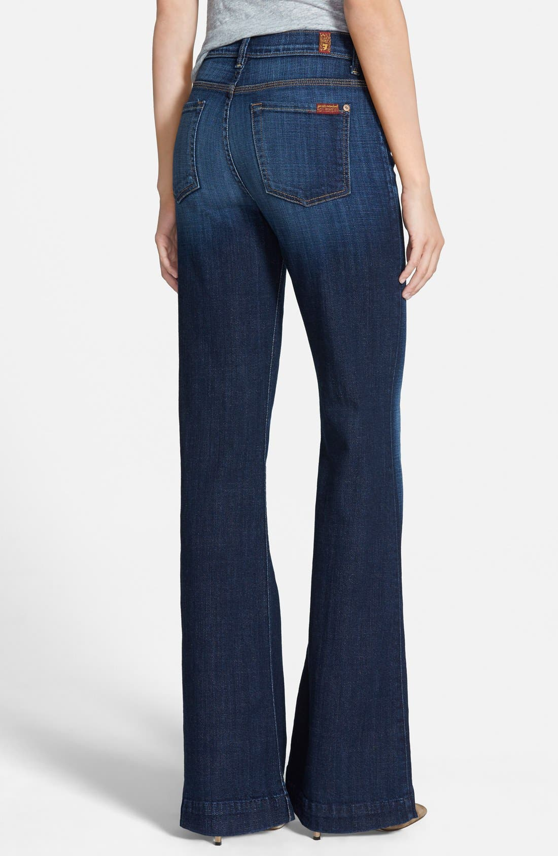 Alternate Image 2  - 7 For All Mankind® 'Ginger' High Rise Flare Jeans (Royal Broken Twill)