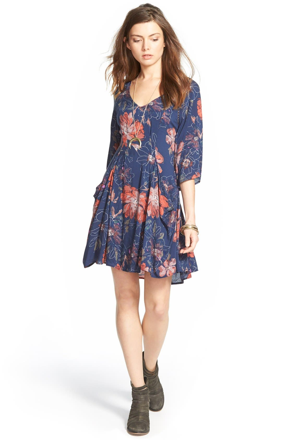 Alternate Image 1 Selected - Free People 'Eyes On You' Trapeze Dress