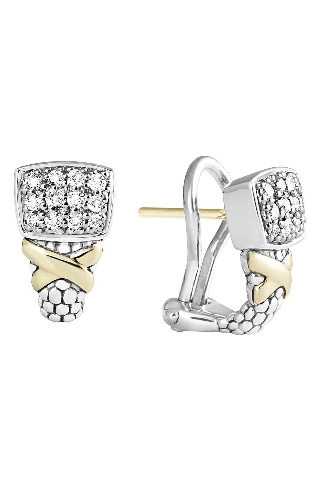 Alternate Image 1 Selected - LAGOS 'Diamond Lux' Diamond Stud Earrings