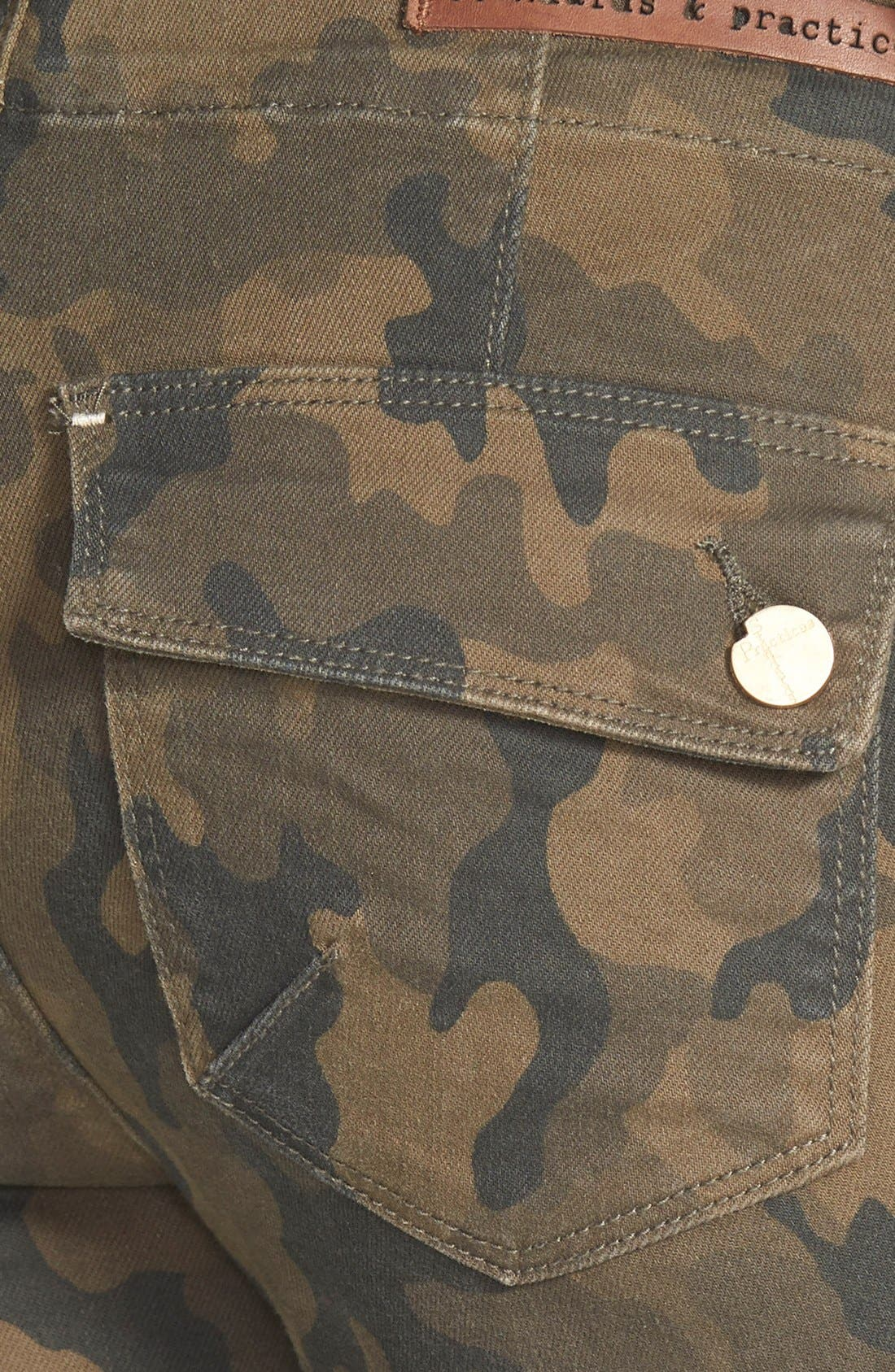 Alternate Image 3  - Standards & Practices Camo Print Crop Boyfriend Jeans (Camo)