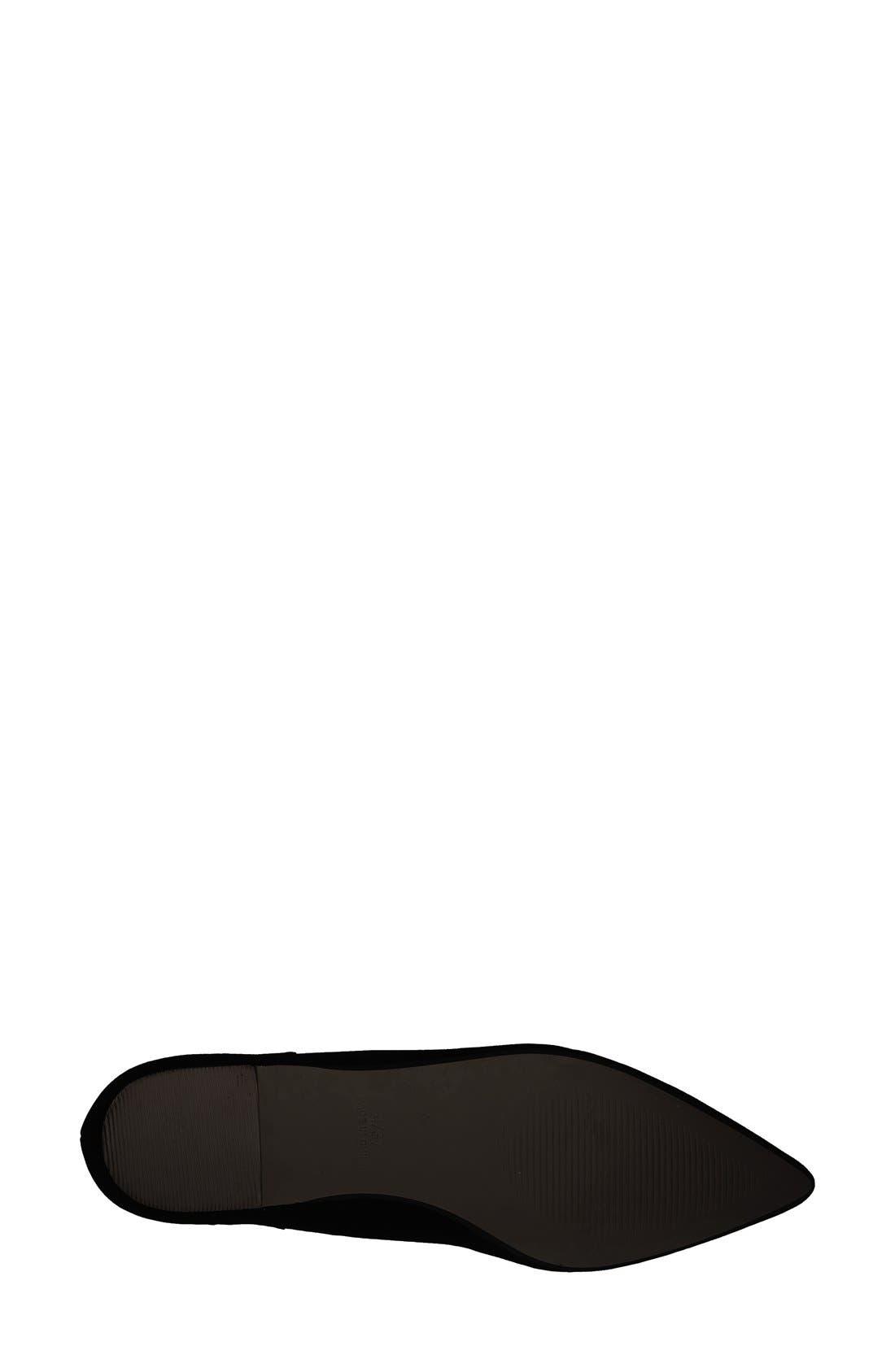 Alternate Image 4  - Topshop 'Finest Shillie' Lace-Up Pointy Toe Flat (Women)