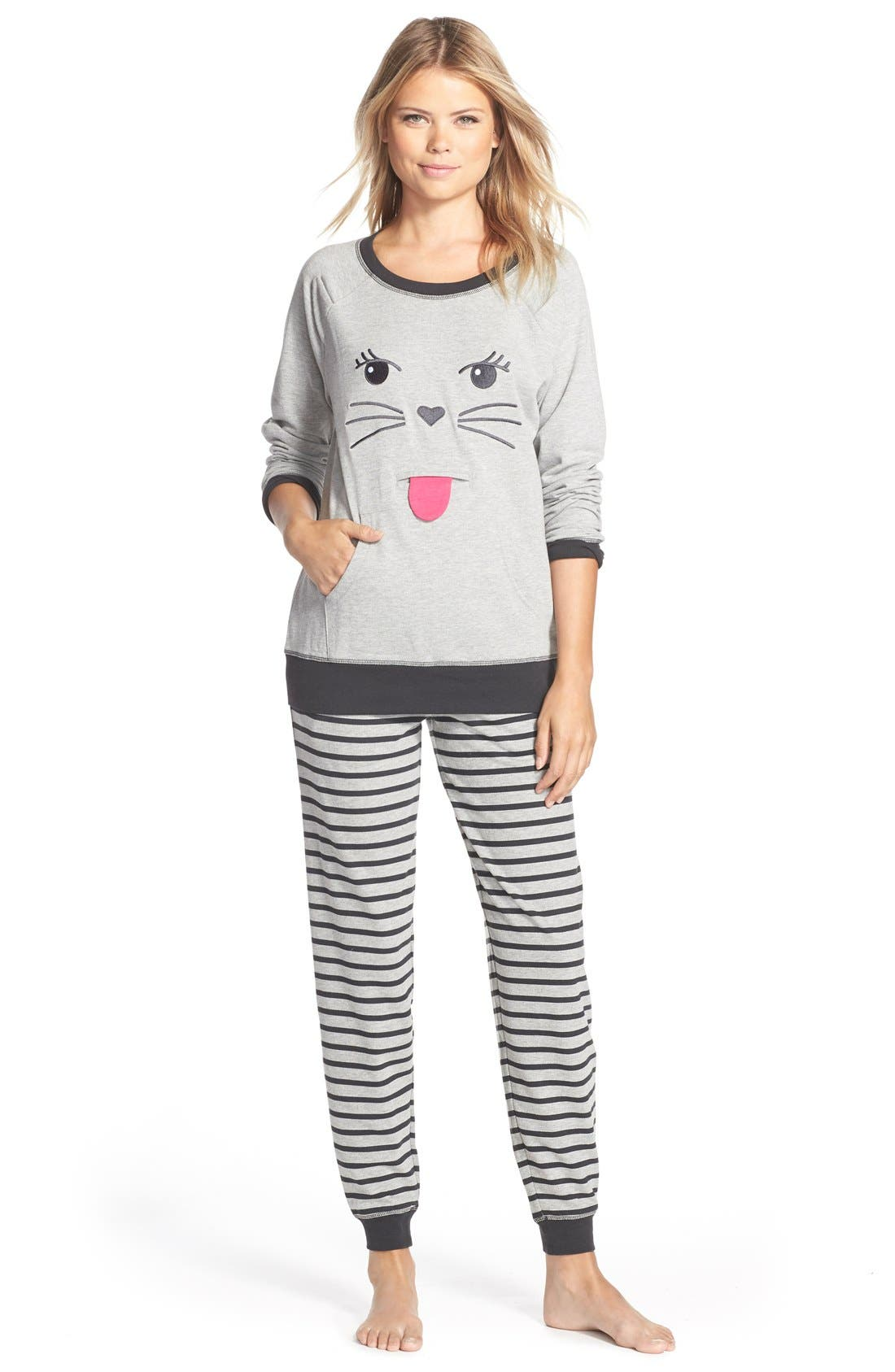 Alternate Image 3  - COZY ZOE Cat Face Pullover Sweatshirt