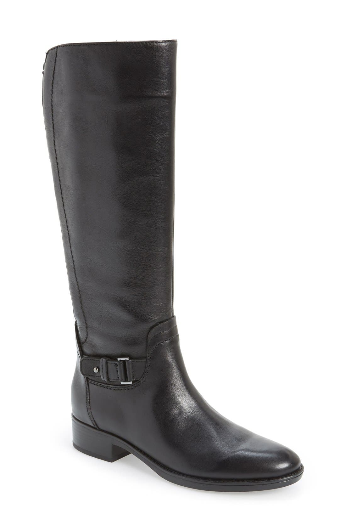 Alternate Image 1 Selected - Geox 'Felicity' Adjustable Shaft Tall Riding Boot (Women)