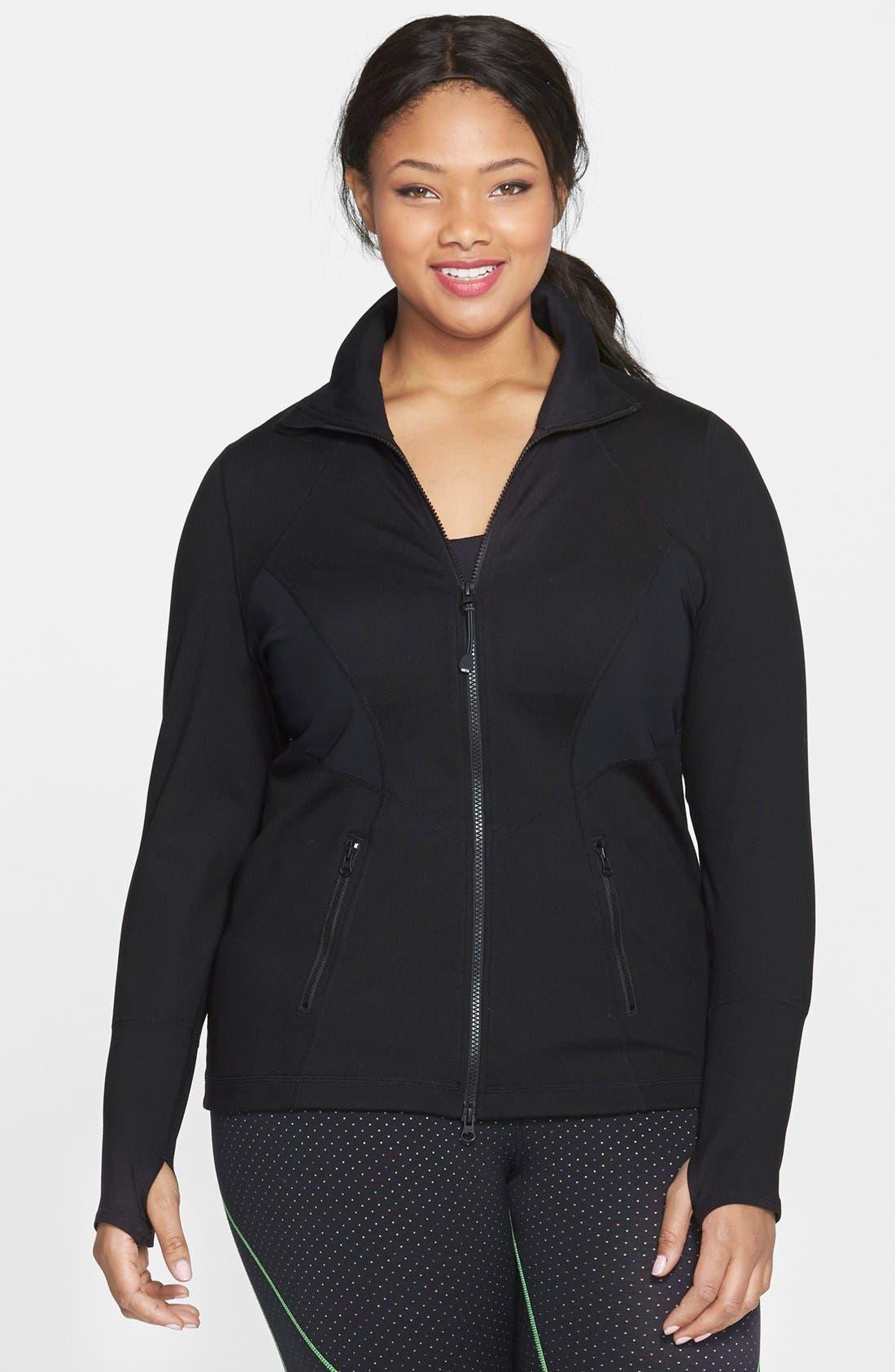 Main Image - Zella 'Stamina' Jacket (Plus Size)