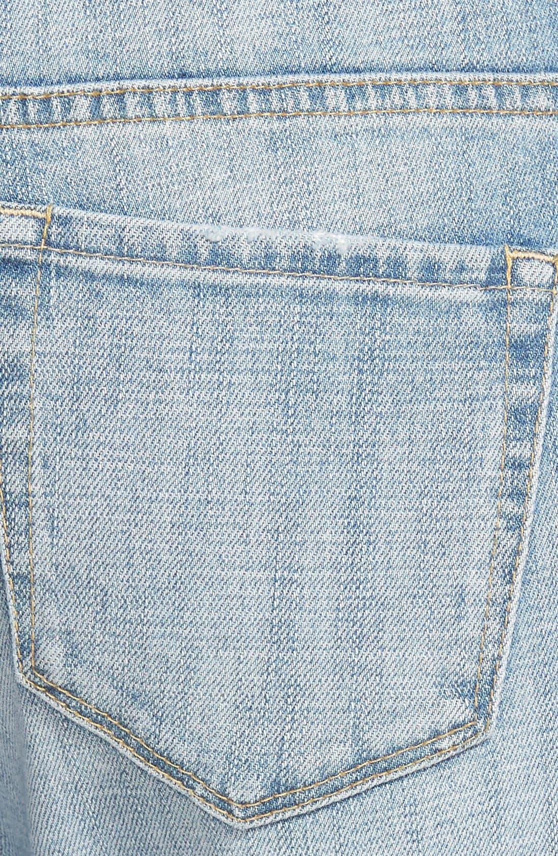Alternate Image 4  - Treasure&Bond Boyfriend Jeans (Rustic Light Patched)