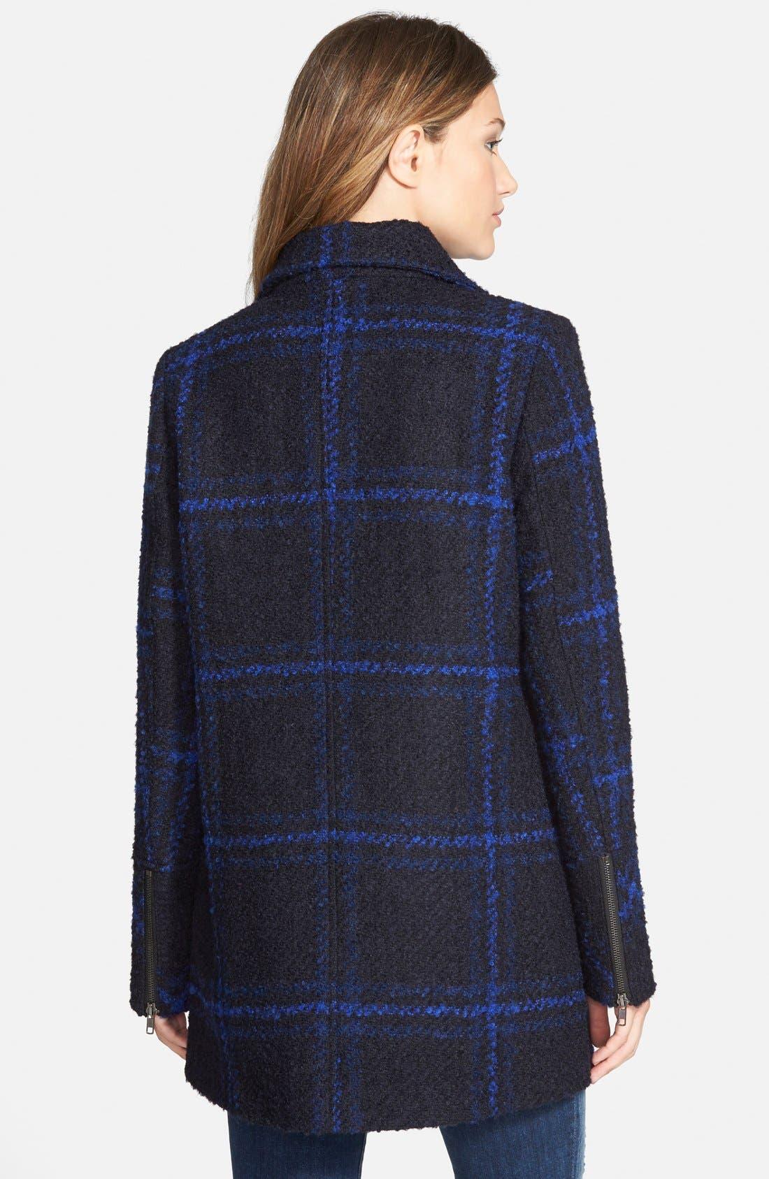 Alternate Image 2  - Maralyn & Me Plaid A-Line Jacket  (Online Only)