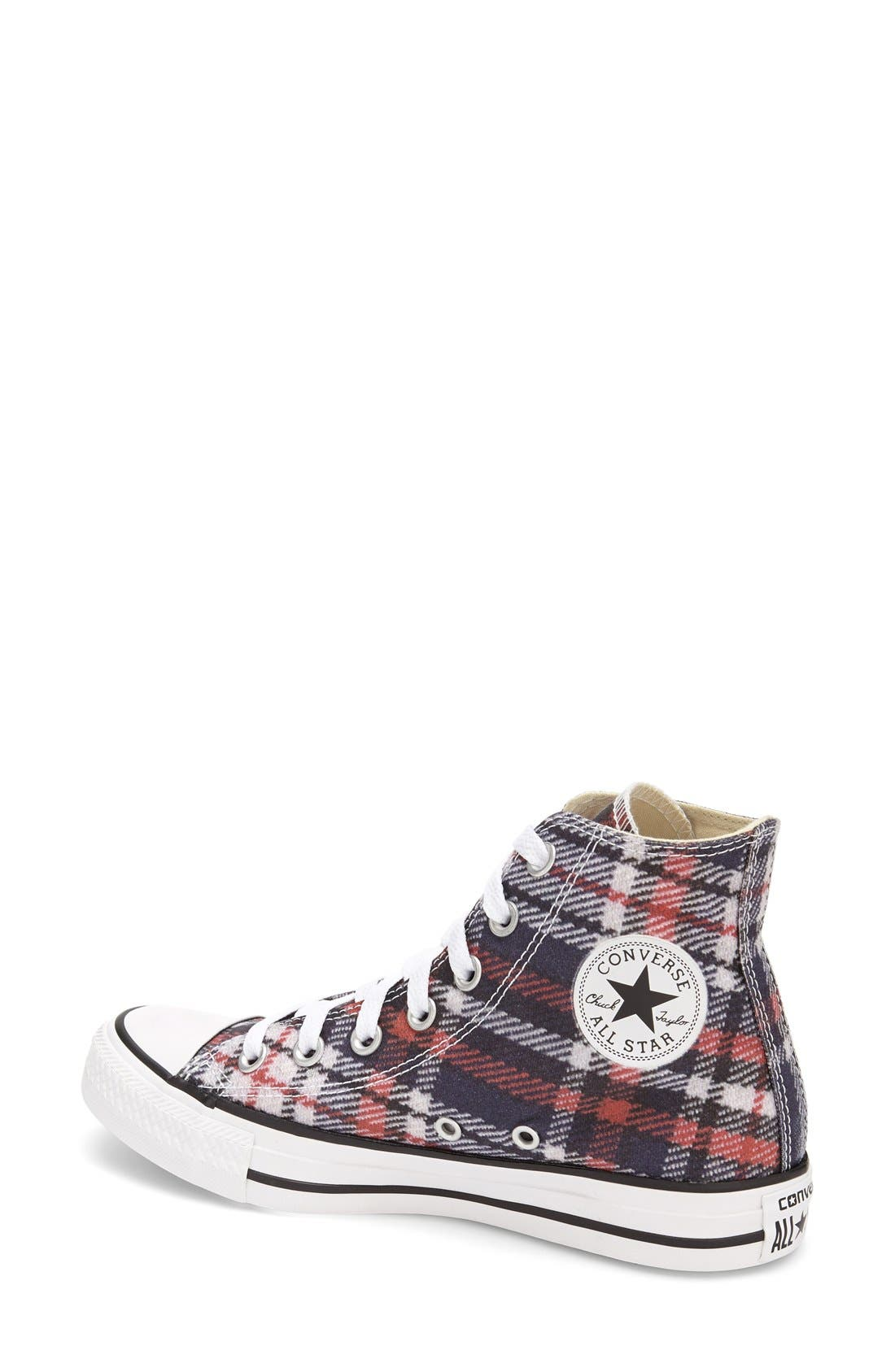 Alternate Image 2  - Converse Chuck Taylor® All Star® Plaid High Top Sneaker (Women)